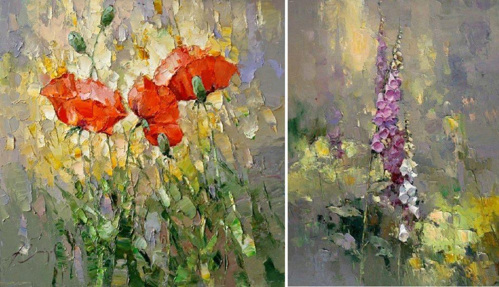 Цветы в импрессионистической манере