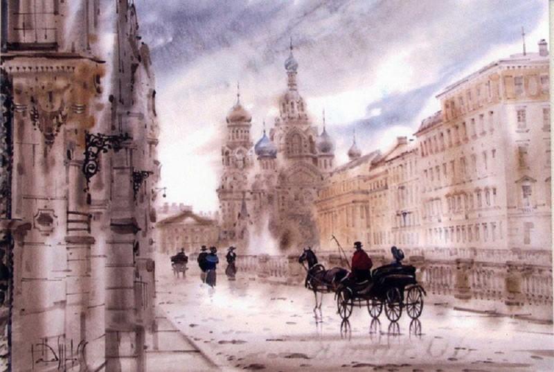 Картина Спас на Крови Светлана Гаджиева