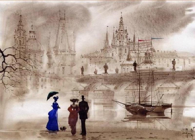 Картина Мостовая