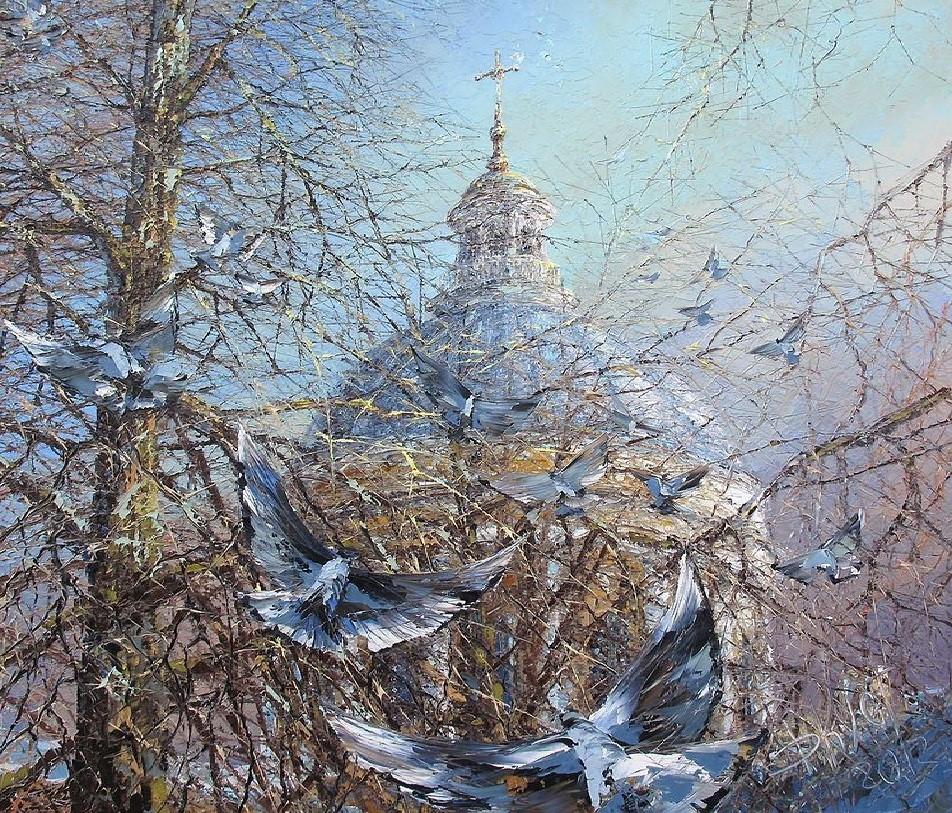 пейзаж мастихином Дмитрий Кустанович