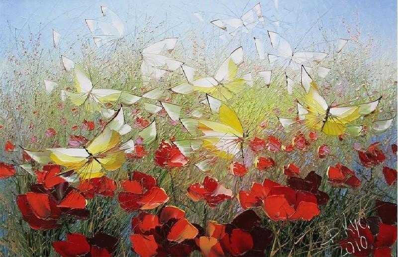 цветы мастихином Кустанович