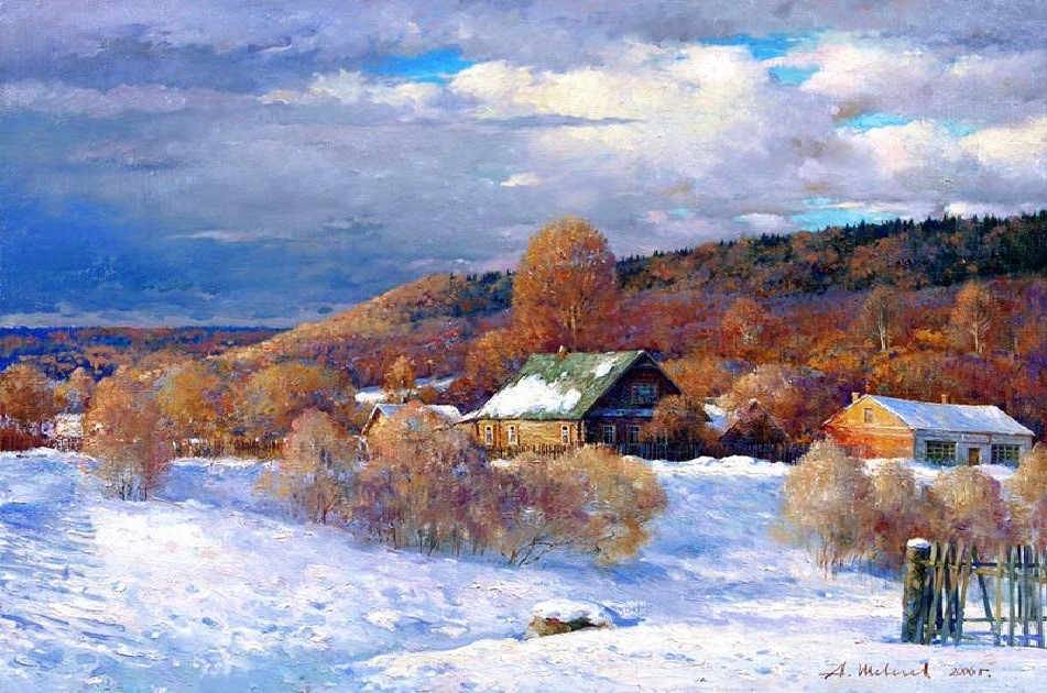 зимний пейзаж Шевелева