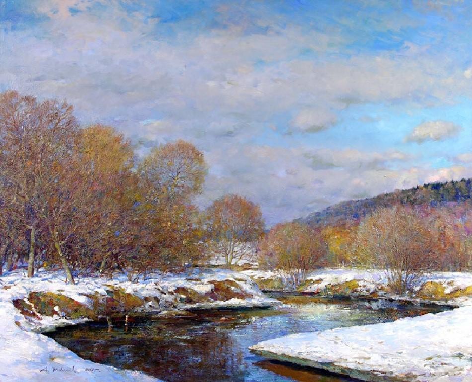 зимний пейзаж Александра Шевелева
