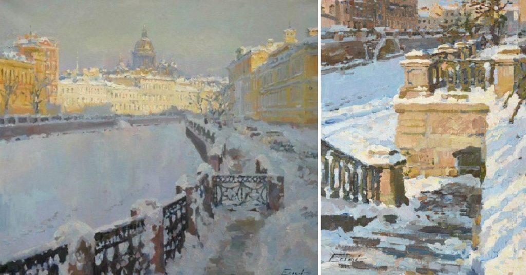 Павел Еськов зимние пейзажи